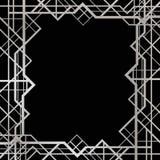 Art Deco geometryczna rama Obrazy Stock