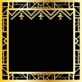 Art Deco geometryczna rama, wektorowa ilustracja (1920's projektują) Zdjęcie Royalty Free