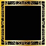 Art Deco geometryczna rama, wektorowa ilustracja (1920's projektują) Fotografia Stock