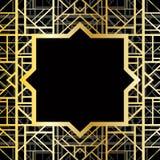 Art Deco geometryczny wzór Obrazy Royalty Free