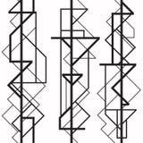 Art Deco geometryczny wzór royalty ilustracja