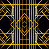 Art Deco geometryczny wzór Obrazy Stock