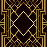 Art Deco geometryczny wzór Zdjęcia Stock