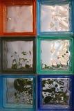 Art Deco Glass Squares Imagen de archivo libre de regalías