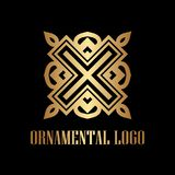 Art Deco Golden Logo libre illustration