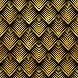 Art deco golden sealless pattern Stock Photo