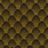 Art deco golden seamless pattern Stock Photography