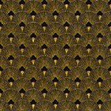 Art deco golden seamless pattern Stock Image
