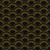 Art deco golden seamless pattern Royalty Free Stock Photo