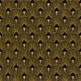 Art deco gouden naadloos patroon Stock Afbeelding