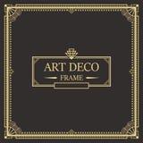 Art Deco granicy rama vector05 Zdjęcia Stock
