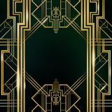 Art Deco Great Gatsby Background Stock Afbeelding