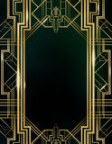 Art Deco Great Gatsby Background Arkivbilder