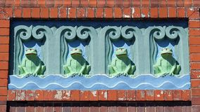 Art Deco Green Frogs Royalty Free Stock Photography