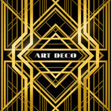 Art deco grille. Metallic abstract, geometric pattern in the art deco style vector illustration