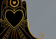 Art Deco Heart Border Royalty Free Stock Photo