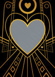 Art Deco Heart Border Royalty Free Stock Photos