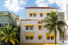 Art Deco Hotel i Miami Beach, Florida Royaltyfri Fotografi