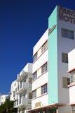 Art Deco-hotel Miami. Royalty-vrije Stock Afbeeldingen