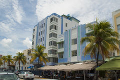 Art deco hotel in Miami Beach Royalty Free Stock Photos