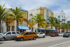 Art deco hotel in Miami Beach Stock Photos
