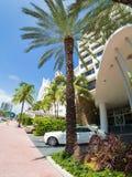 Art Deco hotels at Collins Avenue in Miami Beach Stock Image