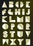 Art deco inspired alphabet. Golden art deco inspired alphabet royalty free illustration