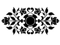 Art Deco Inspired Element. An abstract art deco inspired ornament royalty free illustration