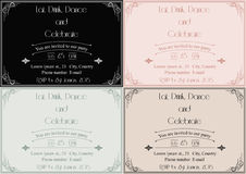Art deco invitation Stock Photos