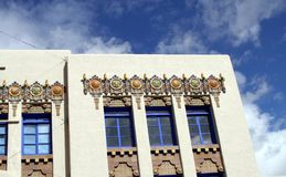 USA, New Mexico/Albuquerque: Art Deco Building Royalty Free Stock Photography