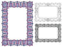 Art deco knotwork border Royalty Free Stock Photography