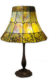 Art Deco Lamp with Butterflies stock photo