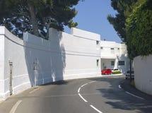 Art Deco-Landhaus auf dem französischen Riviera stockfotos