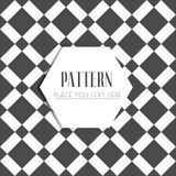 Art Deco Lattice Vector noir et blanc sans couture abstrait Photographie stock