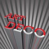 Art Deco Letters Stock Image