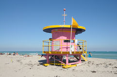 Art Deco Lifeguard tower Royalty Free Stock Photos