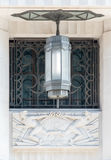Art deco light, carving and grill Stock Photography