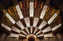 Art Deco Light en el teatro Fotos de archivo libres de regalías