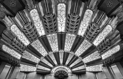 Art Deco Light at the Theater. In Black and White royalty free stock photo