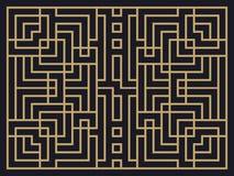 Art Deco Linear Pattern Planlägg en mall för inbjudningar, broschyrer och hälsningkort Royaltyfri Fotografi