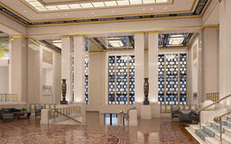 Art Deco Lobby. The great Art Deco lobby with stairs Royalty Free Stock Image