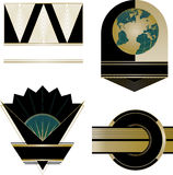 Art Deco Logos and Design Elements stock illustration