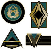 Art Deco Logos and Design Elements Stock Image