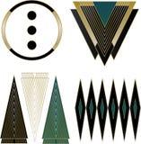 Art Deco Logos och designbeståndsdelar Arkivfoto