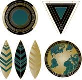 Art Deco Logos und Gestaltungselemente Stockbilder