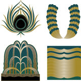 Art Deco logowie i projektów elementy Fotografia Royalty Free