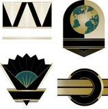 Art Deco logowie i projektów elementy Zdjęcie Stock