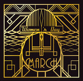 Art Deco 8 March card Stock Image