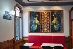 Art Deco in McDonalds in Taradale/in Napier Neuseeland Lizenzfreies Stockfoto