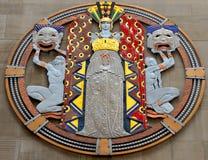 Art Deco medalion Obrazy Stock